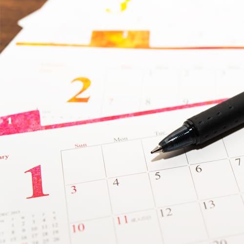 カレンダーのPR