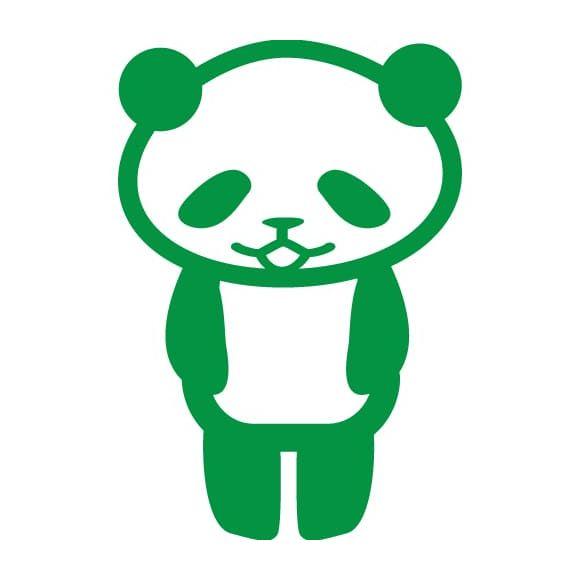 挨拶するパンダ